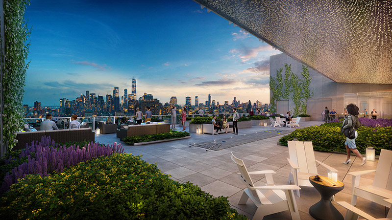 Roof Terrace at Zero Irving (Courtesy of Davis Brody Bond)