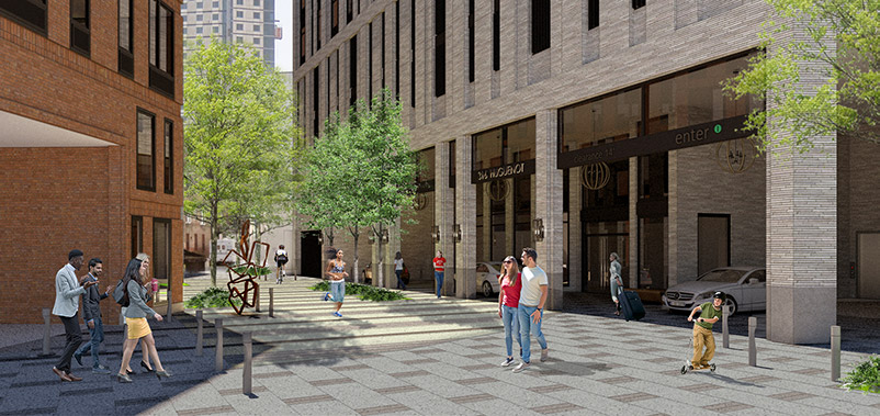 Rendering of 316 Huguenot Street - Richard Bienenfeld Architect