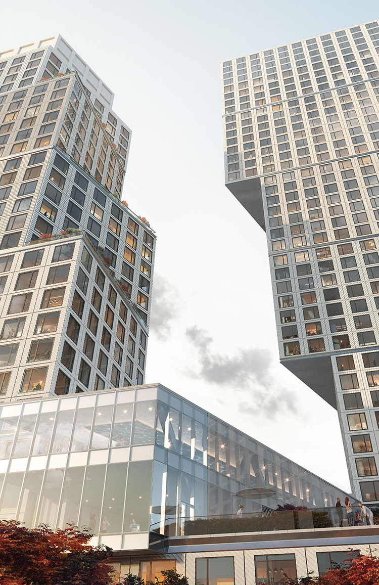 Greenpoint Landing Block D (Renderings courtesy of nuur.nu and OMA)