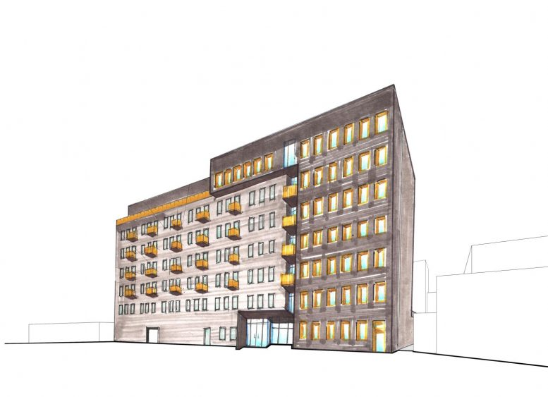 Preliminary rendering of 26-30 4th Street - J Frankl Associates