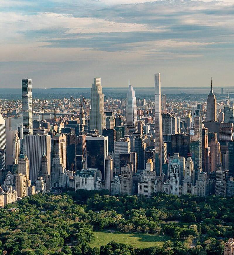 Skyline view of 270 Park Avenue