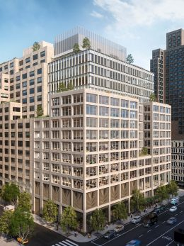 Rendering of 561 Greenwich Street. Courtesy of COOKFOX