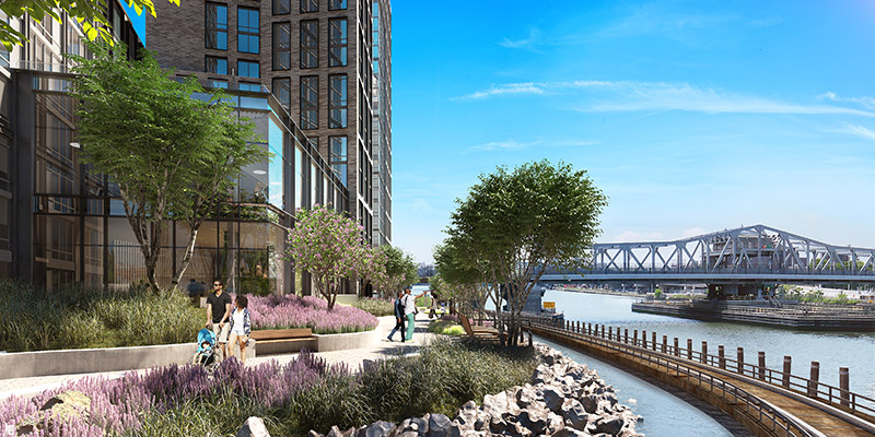 Rendering of Bankside Esplanade by ArX Solutions