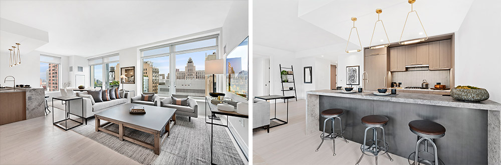Model interiors at 91 Leonard Street - Toll Brothers City Living