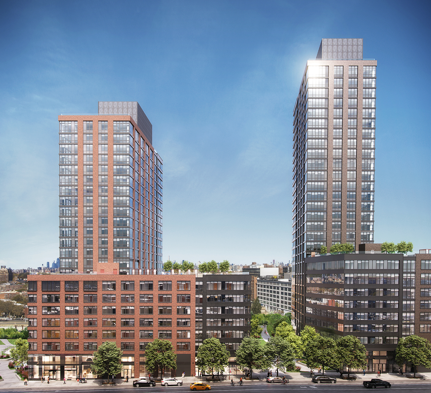 Rendering of 615 and 595 Dean Street. Credit: MOSO Studio