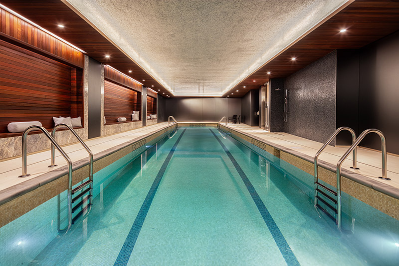 Lap pool at 91 Leonard Street - Toll Brothers City Living