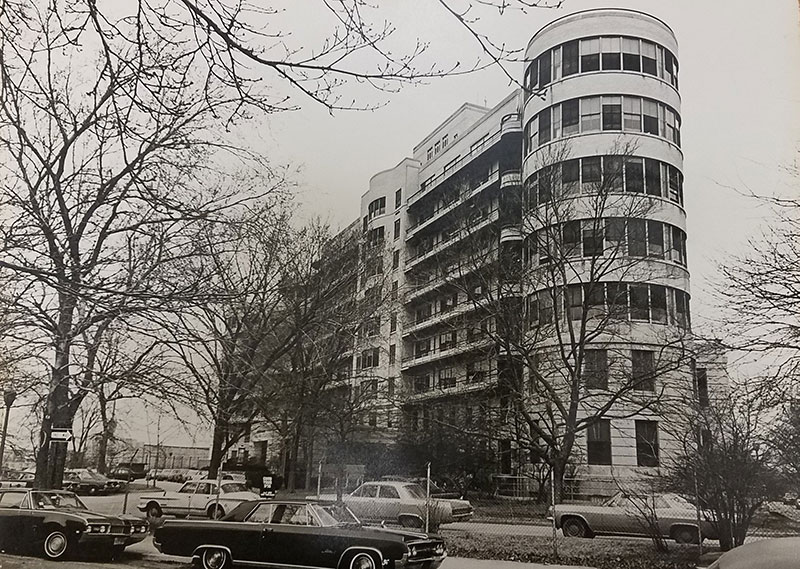 Historic image of the T-Building (Merchants Capital / Dunn Development Corp.)