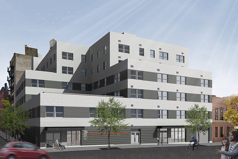 Renderings of the new The Richard Pruss Wellness Center In The Bronx - GF55 Partners