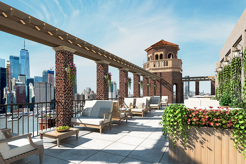 Watermark Brooklyn Heights - Terrace Area (Courtesy of Watermark at Brooklyn Heights)
