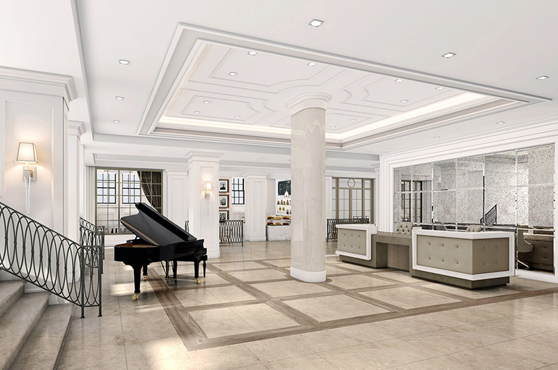 Watermark Brooklyn Heights - Lobby (Courtesy of Watermark at Brooklyn Heights)