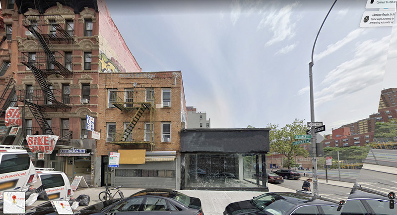Existing structures at 176-178 Delancey Street (Avison Young)