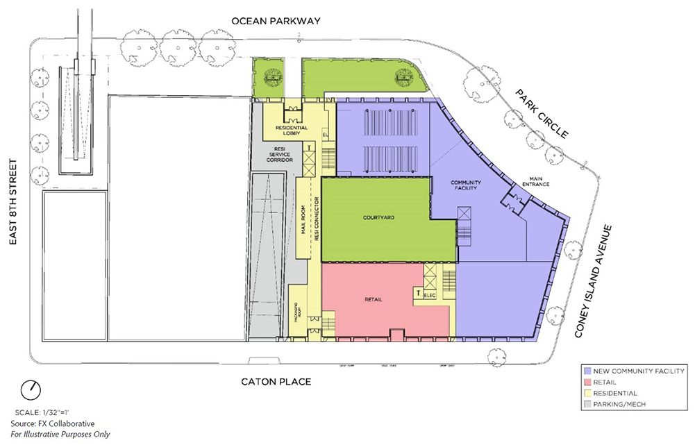 Site plan for proposed development at 312 Coney Island Avenue - FXCollaborative