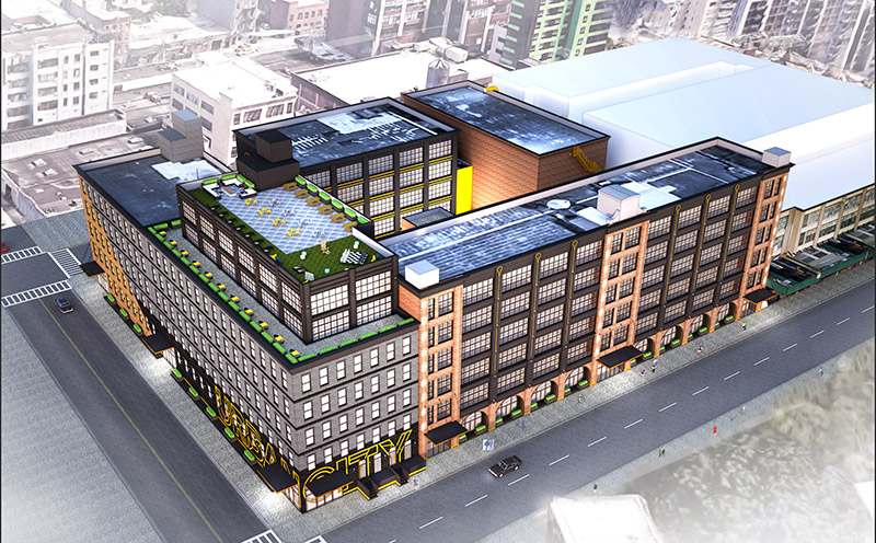 Overall rendering of Urban Yard - Input Creative Studio