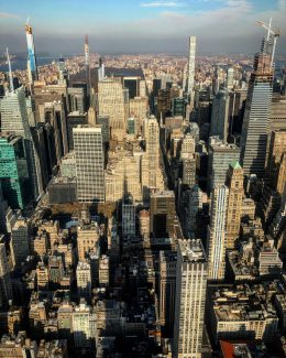 Midtown and Billionaires' Row from the Empire State Building's 102nd floor observatory