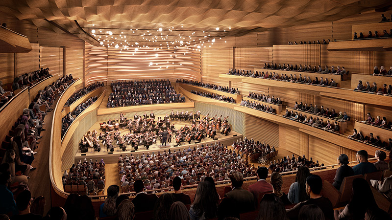 Interior View of the new David Geffen Hall (Photo: Lincoln Center for the Performing Arts)