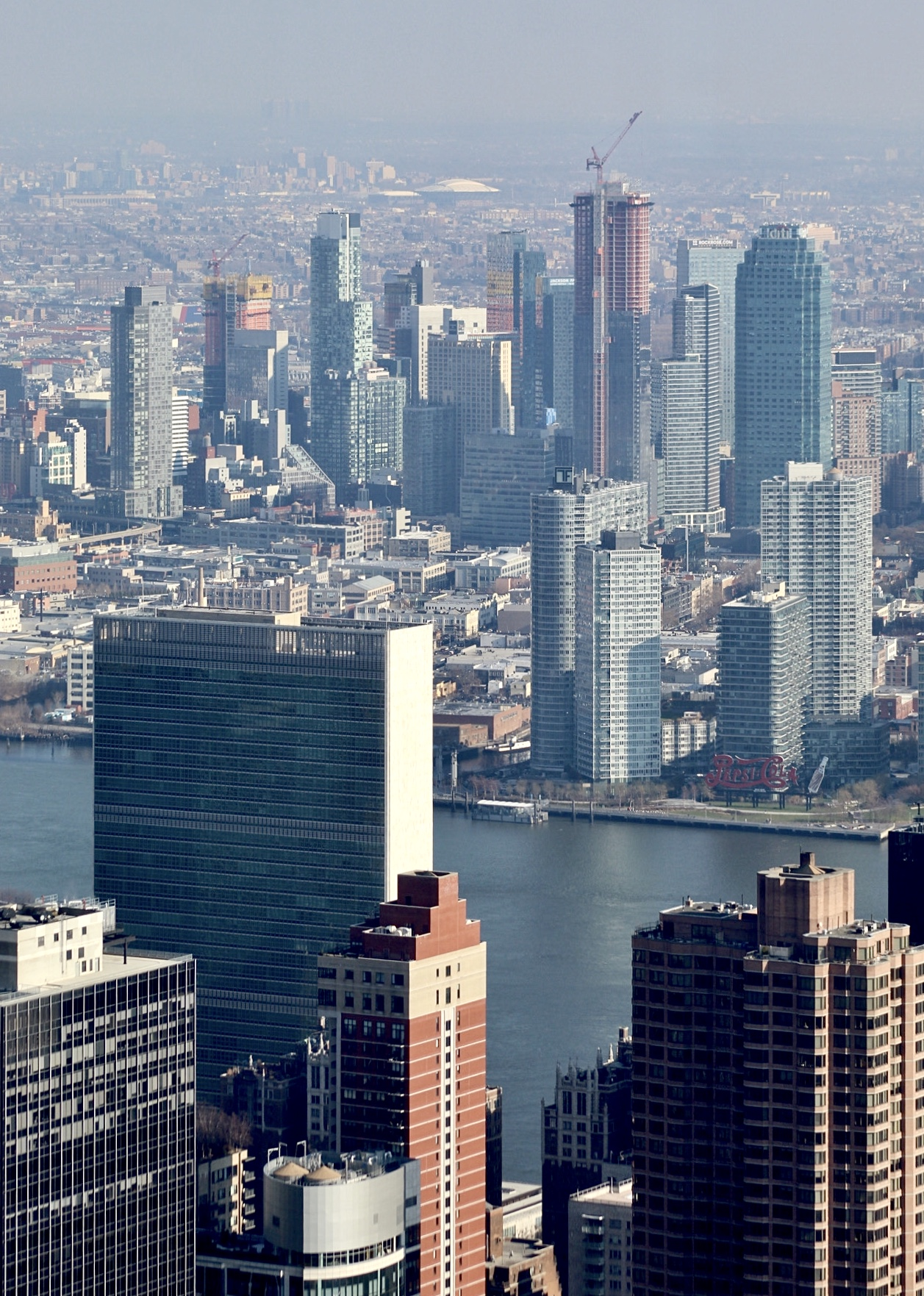 Midtown East and Long Island City from the Empire State Building's 102nd floor observatory. Photo by Michael Young