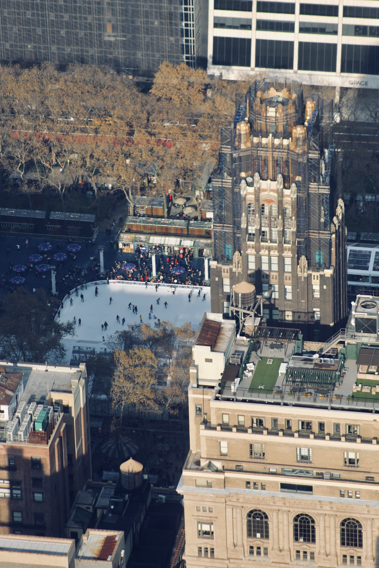 Bryant Park and the American Radiator Building from the Empire State Building