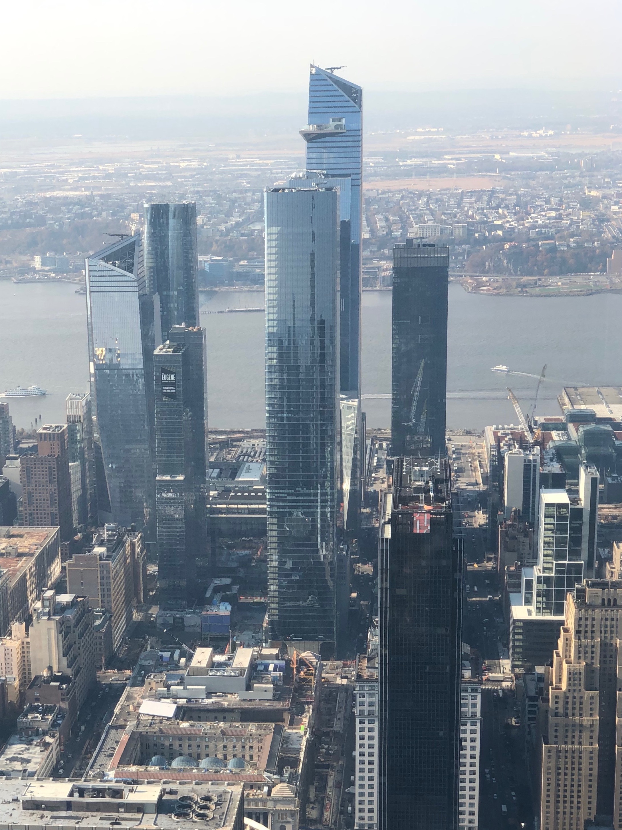 Hudson Yards from the Empire State Building's 102nd Floor Observatory