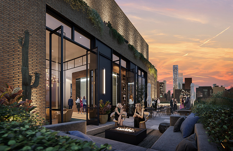 Rendering of Penthouse rooftop at 10 Grand Central - Marx Realty