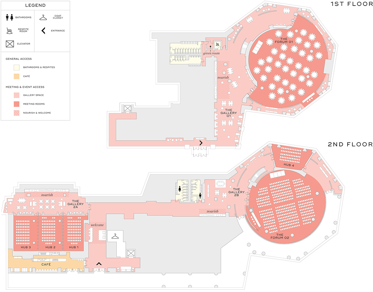 Floorplans of event space (Courtesy of Convene)