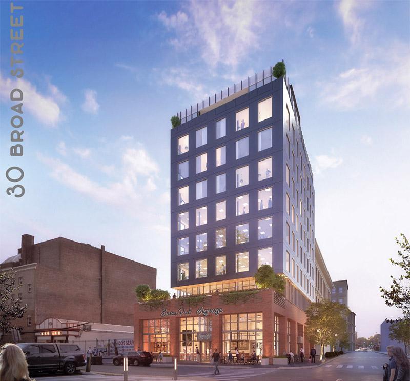 Rendering of 30 Broad Street - Sarrazin Architecture