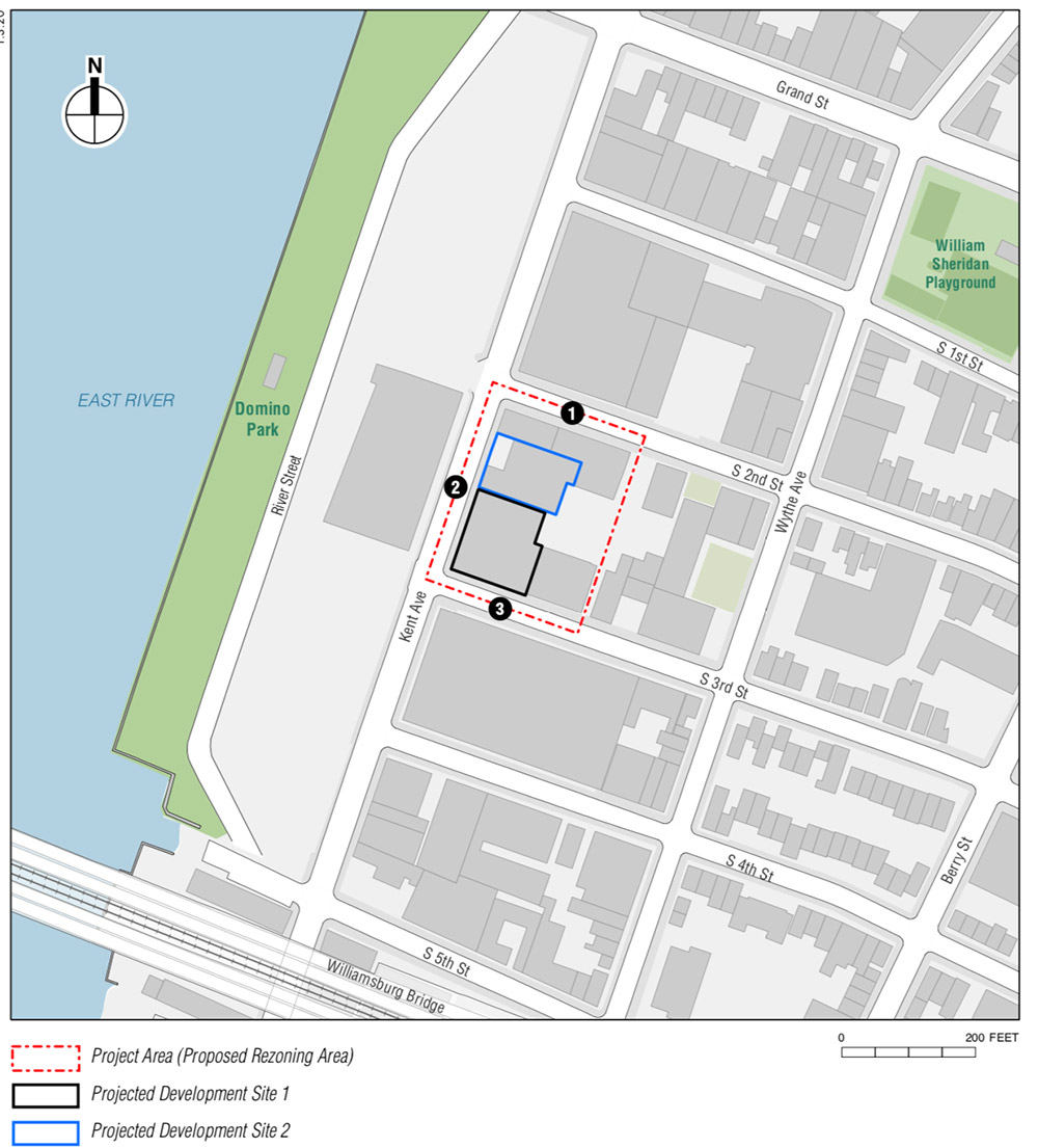 Site Map for 307 Kent Avenue - S9 Architecture