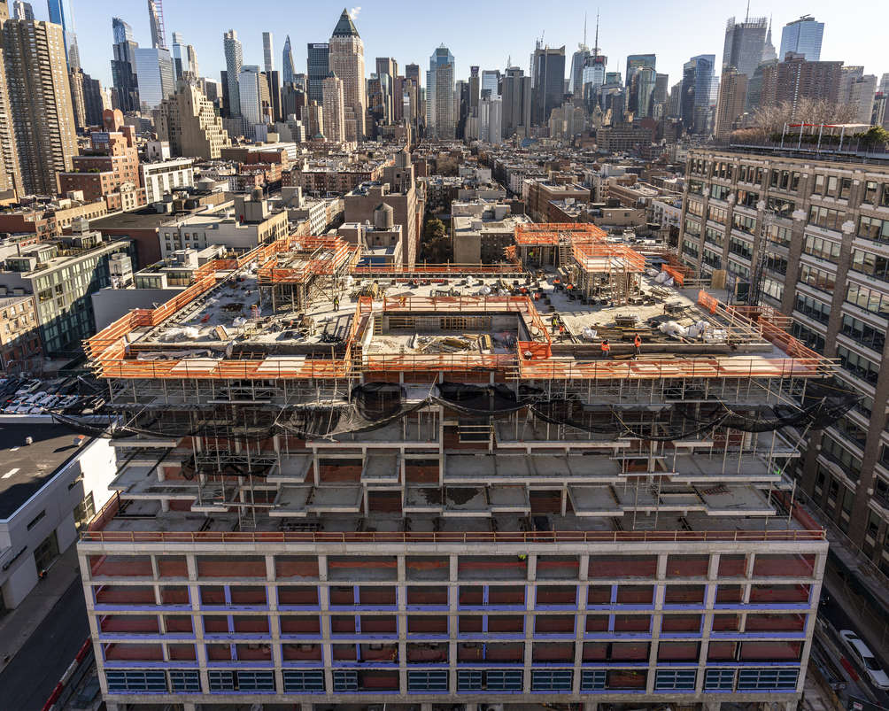 Construction at 547 West 47th Street (Photo by Optimist Consulting)