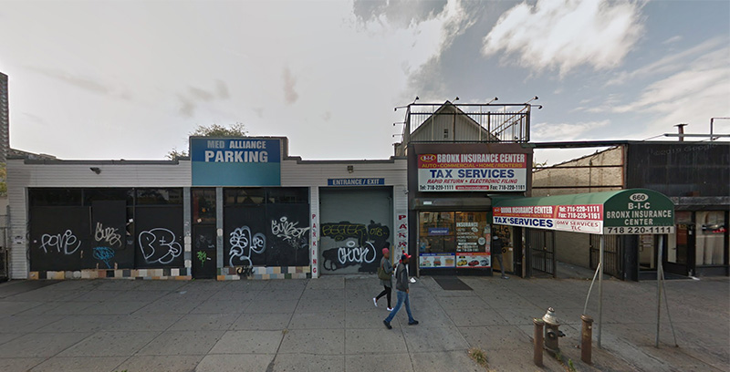 Existing conditions at 660-668 East Fordham Road
