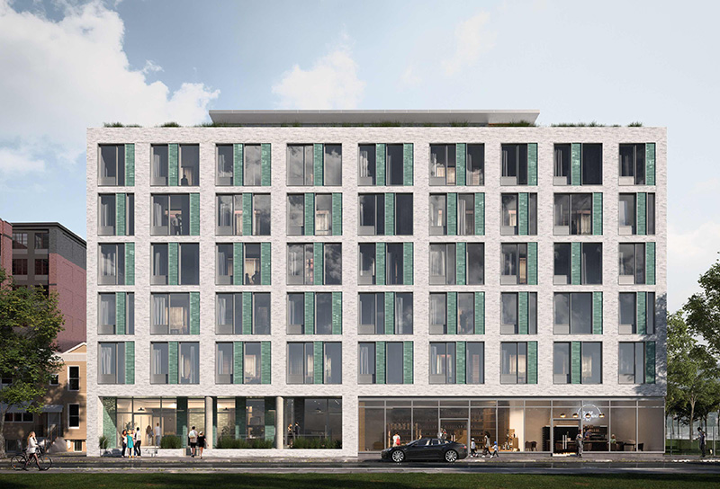 Rendering of 95 Monitor Street - Fogarty Finger Architecture