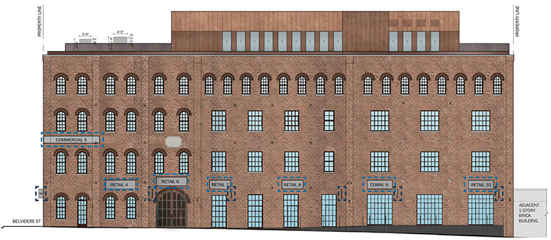 Beaver street facade at 81 Beaver Street - DXA Studio