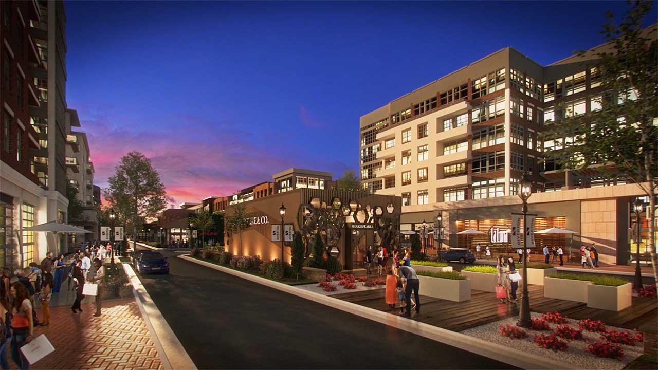 Retail corridor within the Riverton development - North American Properties