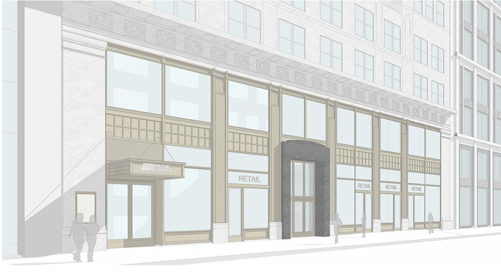 Rendering of proposed retail component (Option C) - Fogarty Finger Architecture
