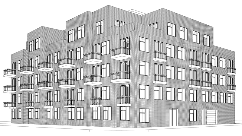 Preliminary rendering of 508 Graham Avenue - CW Realty Management