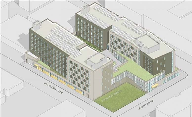 Rendering for 803 Rockaway Avenue - by Think! Architecture