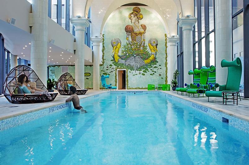 Indoor pool at Denizen (Photo: Eric Laignel)