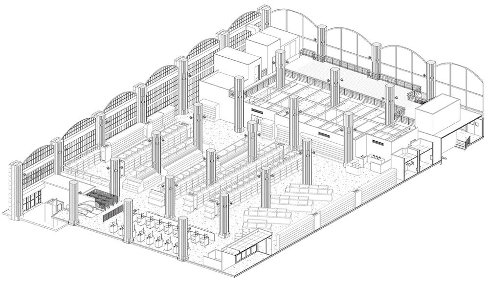 Proposed interior layout of Trader Joe's 405 East 59th Street Location - Madd Equities