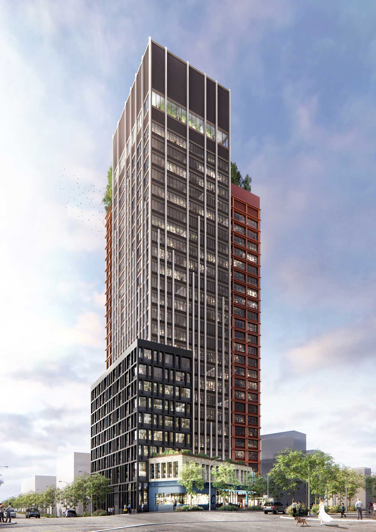 Rendering of Journal Square Urby - Ironstate Development / HLW Architects