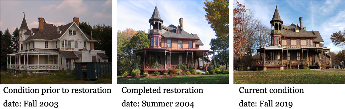 Existing conditions of the Kreischer House following restorations in Summer 2004
