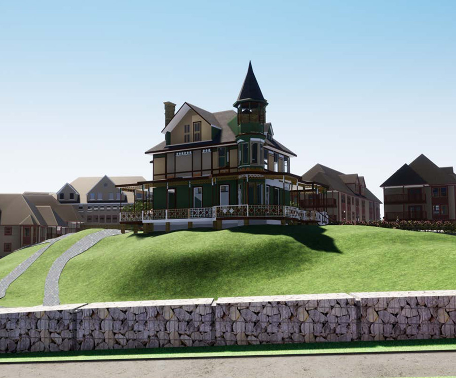 Rendering of the renovated Kreischer Mansion