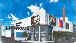 Rendering of the Lionsgate Studio Building