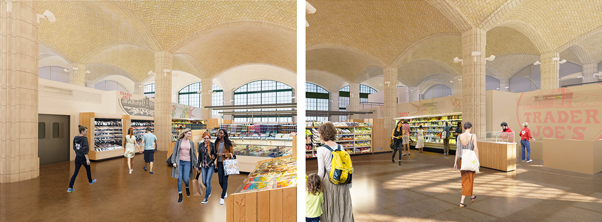 Renderings of proposed interior of Trader Joe's 405 East 59th Street Location - Madd Equities