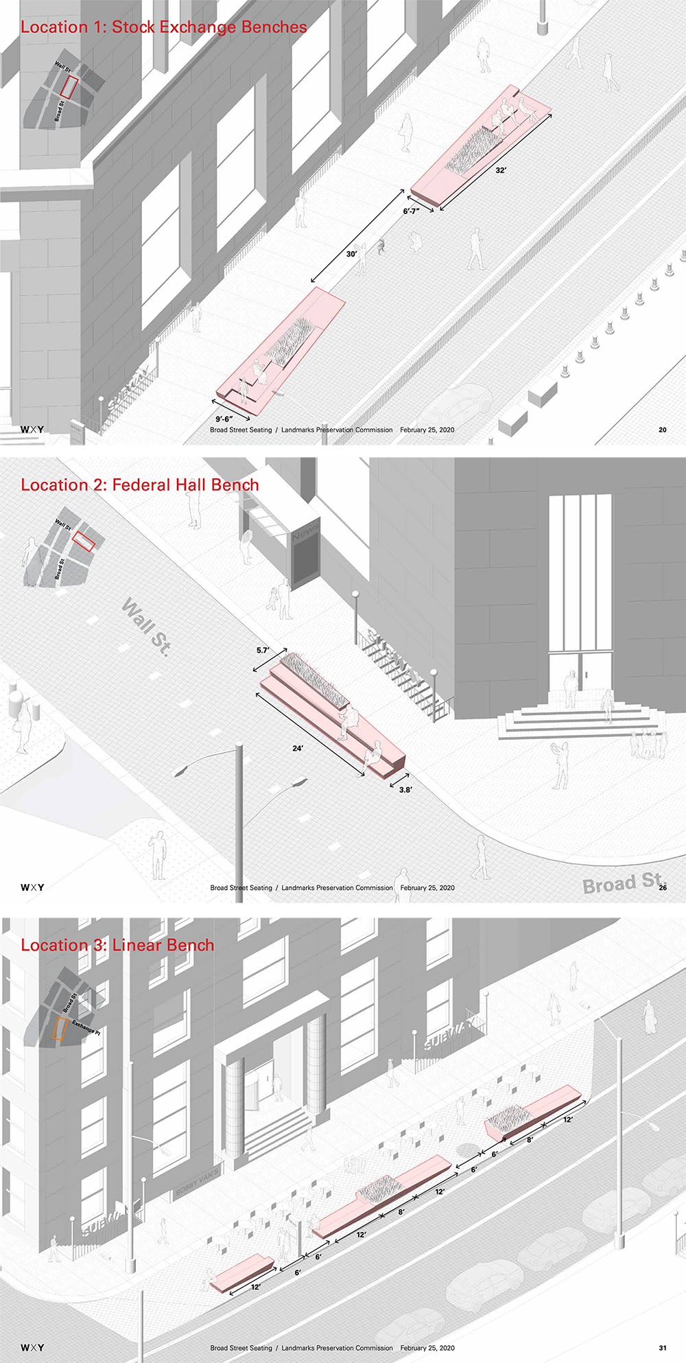 Diagram of new seating areas - WXY Architecture / Downtown Alliance