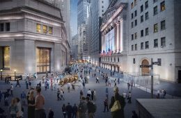 Rendering of the reimagined Stock Exchange District - WXY Architecture / Downtown Alliance