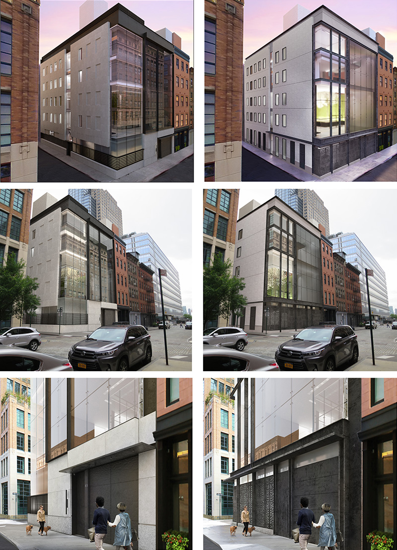 Previous renderings (December 2019) and Updated Renderings (March 2020) - E. Cobb Architects