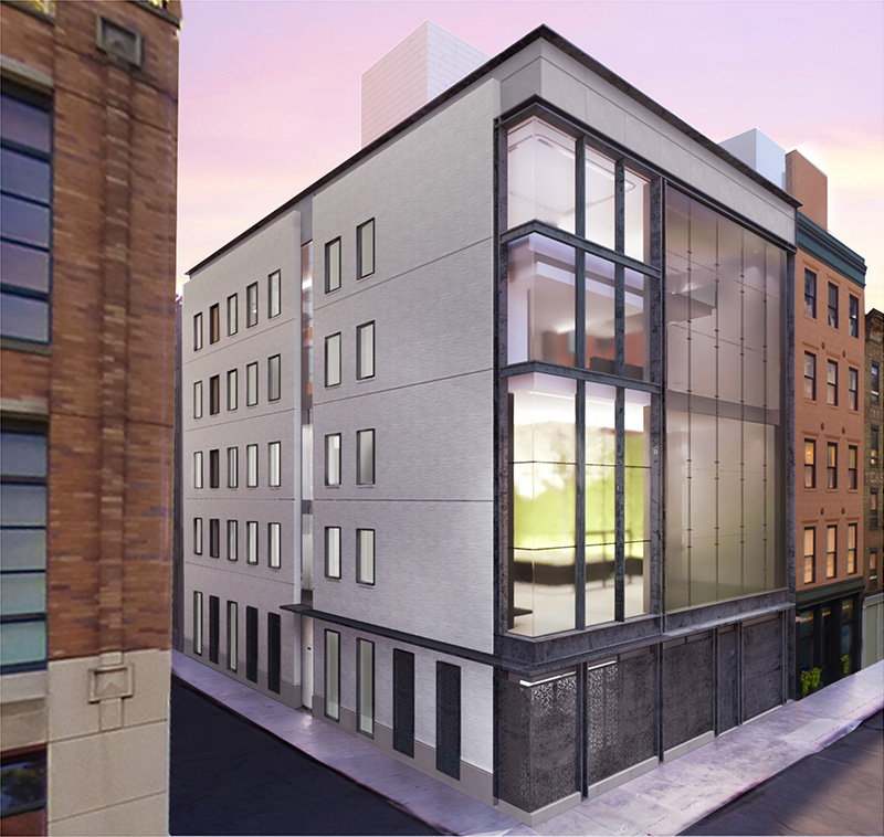 Updated renderings of 11 Hubert Street - E. Cobb Architects