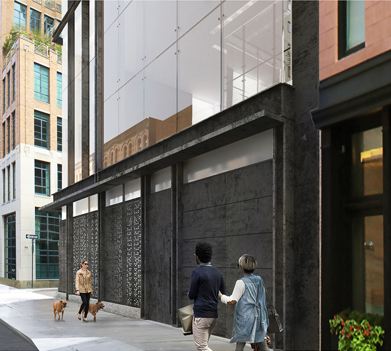 Ground floor renderings of 11 Hubert Street - E. Cobb Architects