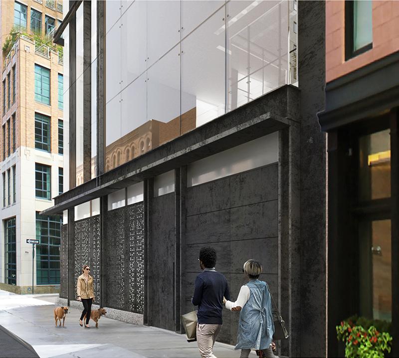 Ground floor renderings of 11 Hubert Street - E. Cobb Architects