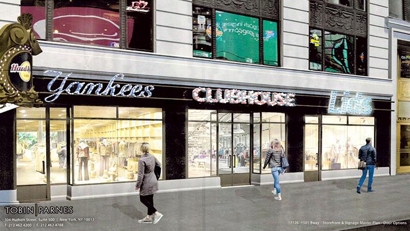 Proposed marquee signage along Broadway (Option 1) - Tobin Parnes Design