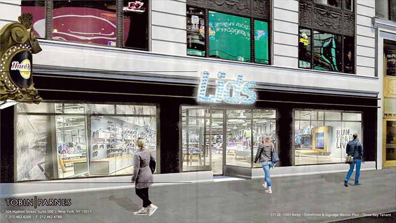 Proposed marquee signage along Broadway (Option 3) - Tobin Parnes Design