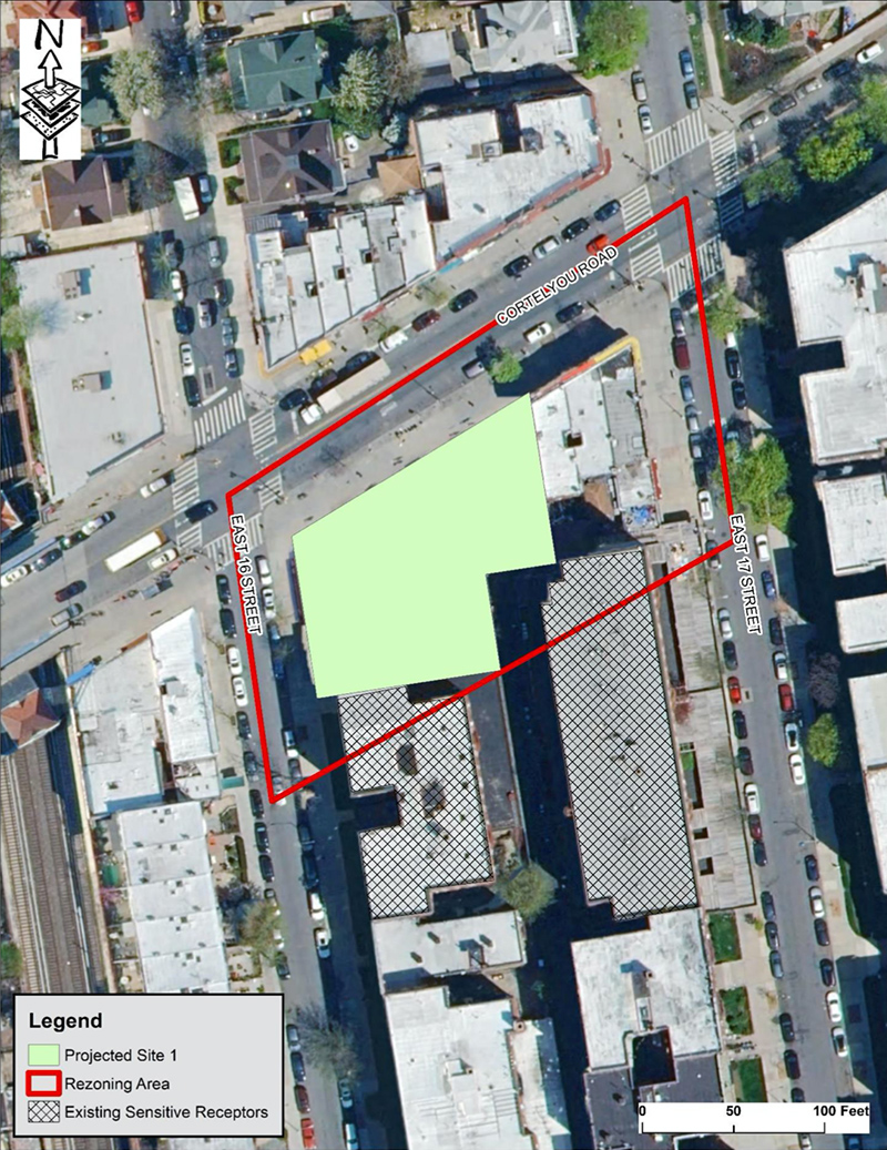 Aerial site map of 1620 Cortelyou Road - 1600/20 Realty Corp
